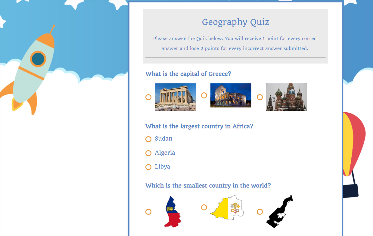 quizzes for education