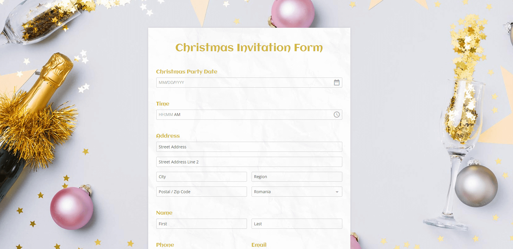 holiday-themed templates