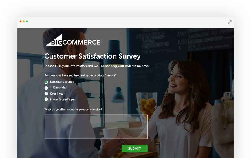 customer satisfaction survey with bigcommerce integration