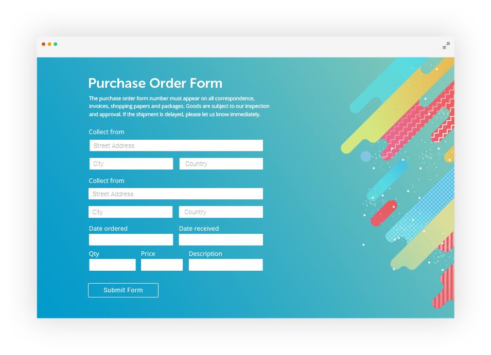 Square Order Form by 123FormBuilder